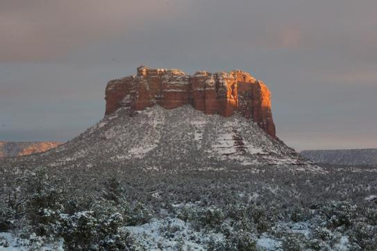 "This photo reminded me of Weathertop from ""The Lord of the Rings"". Photo taken on January 1st, 2015 in Sedona Ariz,."